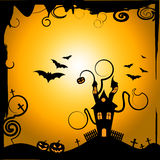 Haunted House Shows Trick Or Treat And Astronomy Stock Photo