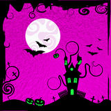 Haunted House Shows Trick Or Treat And Autumn Royalty Free Stock Images