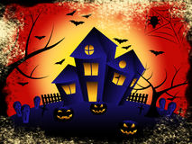 Haunted House Shows Trick Or Treat And Celebration Royalty Free Stock Images