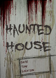 Haunted House Sign Royalty Free Stock Images