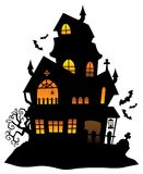 Haunted house silhouette theme image 1 Stock Photography