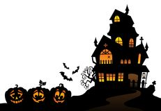 Haunted house silhouette theme image 4 Stock Images