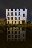 Haunted House. A spooky house on the Leeds-Liverpool canal Stock Photos