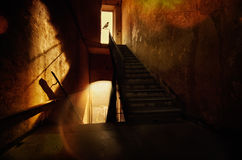 Haunted house. Spooky stairway in haunted house Stock Photography