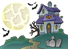 Haunted house theme image 1 Royalty Free Stock Images
