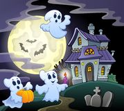 Haunted house theme image 3 Royalty Free Stock Photography