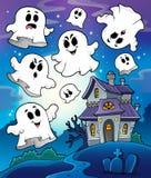 Haunted house theme image 6 Royalty Free Stock Photo