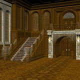 Haunted Mansion. 3 D Computer Render of an Haunted Mansion Stock Image