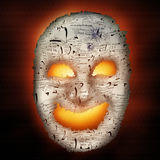 Haunted Paper Mask Stock Images
