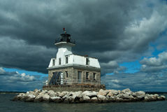 Haunted Penfield Reef Lighthouse Stock Images