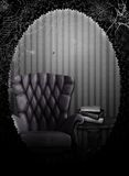 The Haunted Room. A gothic room with cobwebs and books, digitally created Stock Images