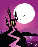 Haunted scary castle. Old Scary castle. Vector Illustration Royalty Free Stock Image