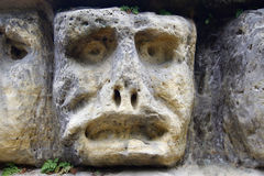 Haunted Stone Heads Royalty Free Stock Photo