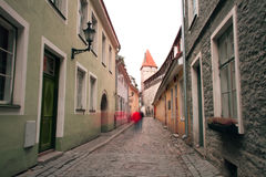 Haunted streets of Tallinn Royalty Free Stock Photo