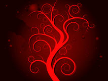 Haunted tree blood Stock Image