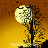 Haunted Tree. Victor EPS 10 Stock Images