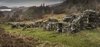 Haunting remains of Arichonan Township in Scotland. Haunting remains of Arichonan Township, a cleared village in the Highlands of Scotland Royalty Free Stock Photos