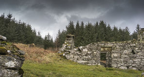 Haunting remains of Arichonan Township in Scotland. Haunting remains of Arichonan Township, a cleared village in the Highlands of Scotland Stock Photo