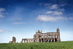 Whitby Abbey in North Yorkshire. Haunting remains of Whitby in North Yorkshire Royalty Free Stock Photo