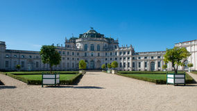 The haunting Residence of Stupinigi. The haunting residence of the royal house of Savoy in Stupinigi, an Unesco world heritage site since 1997 Royalty Free Stock Photo