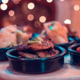 Haupt- Art machen Huhn-chaplie Kebab stockbild