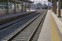 Haupt- Bahn-TrainOSE Station Larissa Station Athens Lizenzfreie Stockfotos
