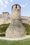 Haupt- oder Haupteingang von Templar-Schloss in Ponferrada Stockfotos