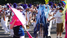 Haupt-Pride Parade Marching Band stock video