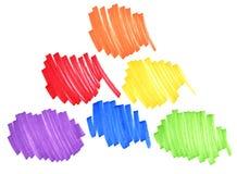 Haupt- und Sekundärfarben stockbild