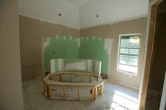 Hauptbadezimmer, das Projekt umgestaltet Lizenzfreies Stockfoto