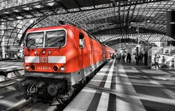 Hauptbahnhof. Train station in Berlin on Juni 27, 2012 Royalty Free Stock Images
