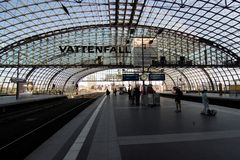 Hauptbahnhof in Berlin Royalty Free Stock Photos
