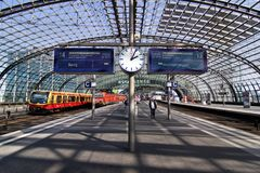 Hauptbahnhof in Berlin Royalty Free Stock Image