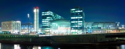Hauptbahnhof berlin, germany. Hauptbahnhof (main railway station) in berlin, germany, at night Stock Photography