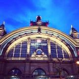 Hauptbahnhof de Francoforte Imagens de Stock