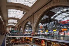 Hauptbahnhof - Leipzig, Germania Immagine Stock Libera da Diritti