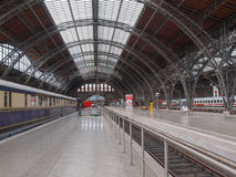 Hauptbahnhof Leipzig. LEIPZIG, GERMANY - JUNE 12, 2014: The Hauptbahnhof is the main railway station in Leipzig linking the city to Dresden and Berlin Royalty Free Stock Image