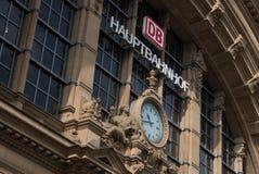 Hauptbahnhof main train station buiding in Frankfurt Royalty Free Stock Photo