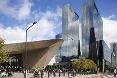 Hauptbahnhof Rotterdam stockfotografie