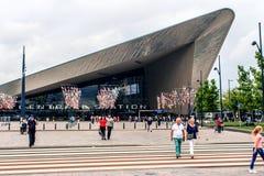 Hauptbahnhof Rotterdam, die Niederlande Lizenzfreies Stockfoto
