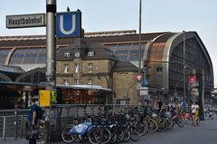 Hauptbahnhof w Hamburg, Niemcy Fotografia Stock