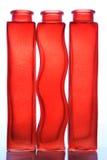 Hauptdekor - rote Flaschen stockfotografie