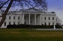 Haupteingang des Weißen Hauses mit Brunnen stockfoto