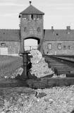 Haupteingang nach Auschwitz Lizenzfreies Stockfoto