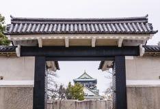 Haupteingang an Osaka-Schloss Lizenzfreie Stockbilder