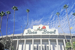 Haupteingang zu Rose Bowl in Pasadena, Pasadena, Kalifornien Lizenzfreie Stockbilder
