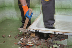 Haupterneuerung, Badezimmer demolieren Lizenzfreies Stockfoto