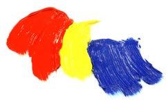 Hauptfarben-Acryllack Stockfotografie
