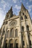 Hauptfassade, Chartres-Kathedrale, Frankreich Lizenzfreie Stockbilder