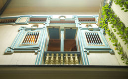Hauptfassade des 19. Jahrhunderts Lizenzfreies Stockfoto